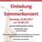 Sommerkonzert am 24. Juni